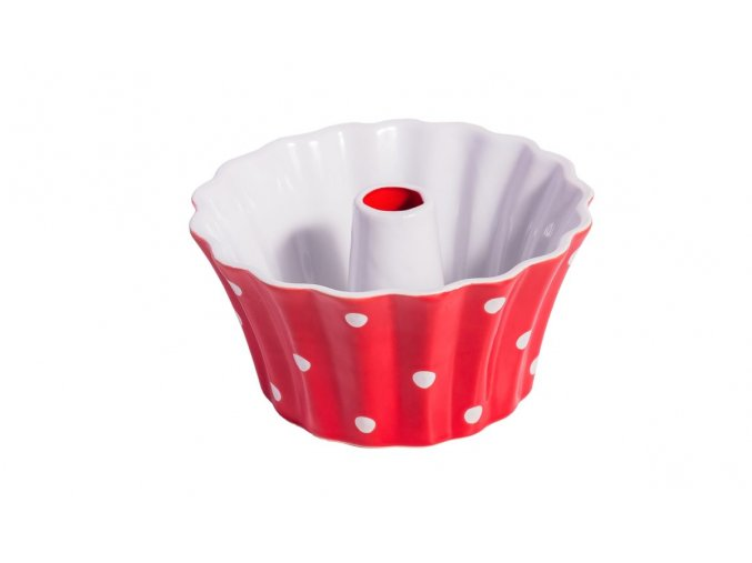 Red small round dish with dots Isabelle Rose