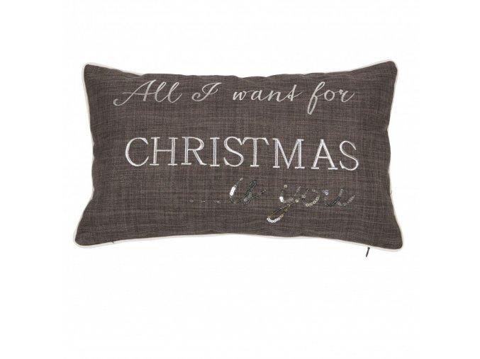 Vankúš Christmas - sivý