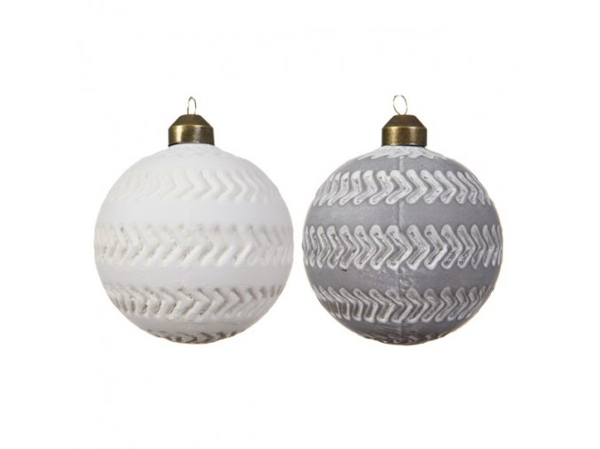 Vianočná guľa - matná sivá