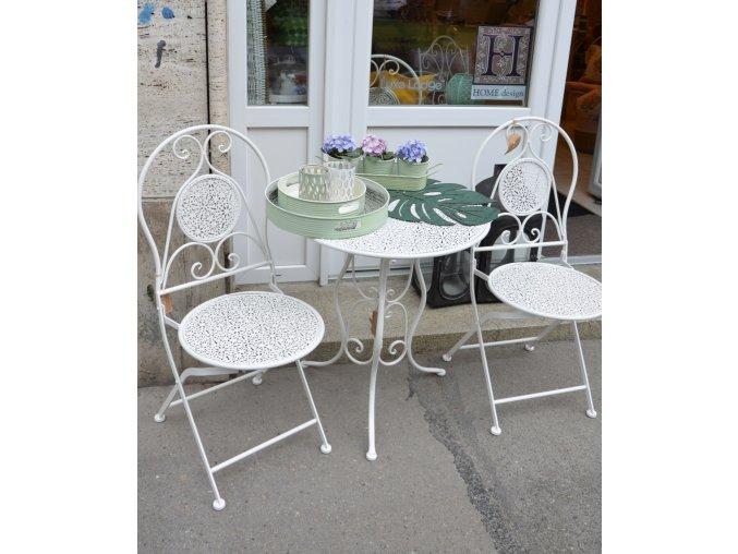 Záhradný set - biely