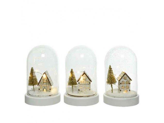 Svietiaca LED dekorácia - domček