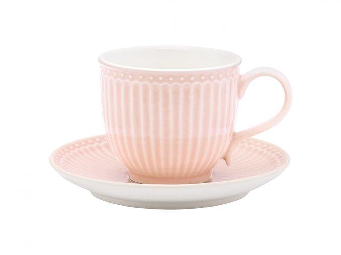 Šálka s podšálkou Alice pale pink