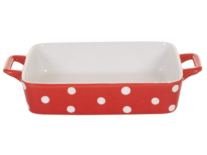 Red small dish with dots Isabelle Rose scaled
