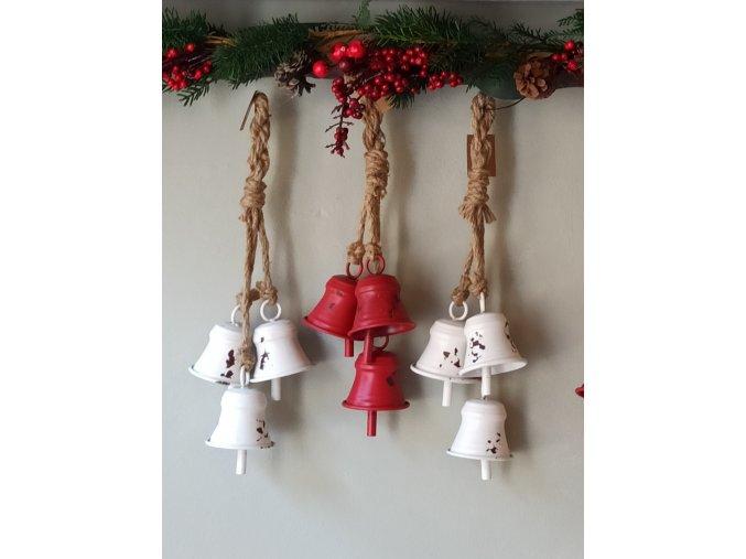 Plechové zvonce - biele