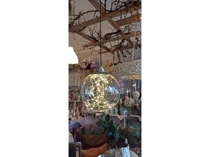 Závesná LED lampa - guľa