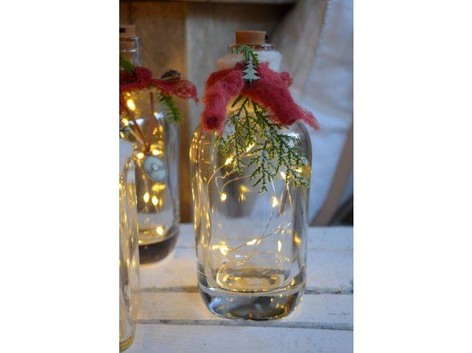 Fľaša s LED svetielkami - A