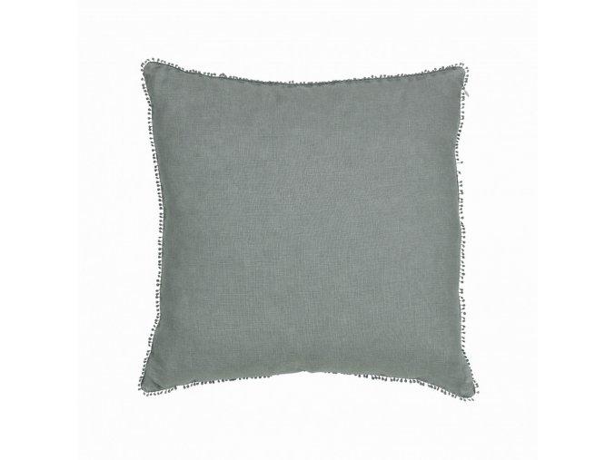 Ľanová obliečka na vankúš  Mateo - modrá