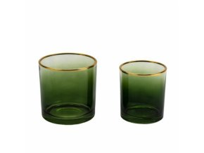 sklenený flakón zelený