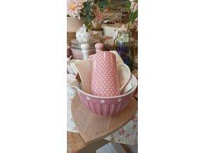 Porcelánový krčah - polka dots pink