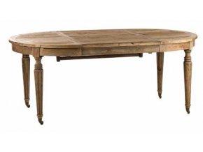 Jedálenský stôl okrúhly - rozkladací 120-198cm