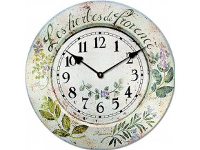Wooden clock Provence herbs 29 cm