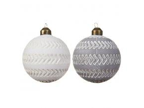 Vianočná guľa - matná biela