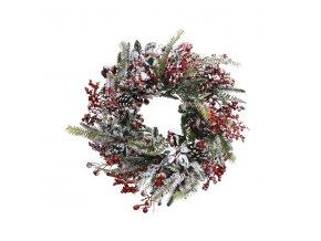 Vianočný veniec - zasnežený
