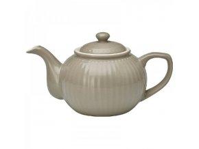 teapot alice warm grey by greengate