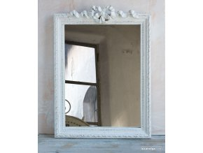 Zrkadlo s mašličkou - biela patina