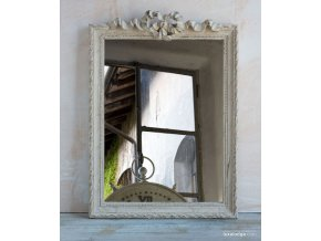 Zrkadlo s mašličkou - bledohnedá patina