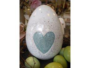 Velkonočné vajce so srdiečkom - L - zelené