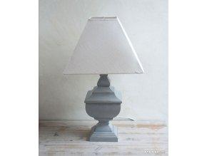 Stlová lampa sivá
