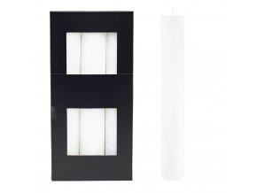 Sviečka kónická - biela XL