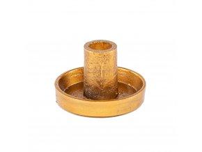 Kovový svietnik - zlatý