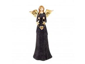 Anjelka - čierno - zlatá