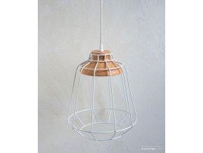 Lampa - kovová - biela