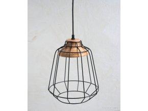 Lampa - kovová - čierna