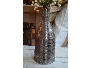 Stríeborná váza