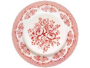 Dezertný tanier Stephanie red