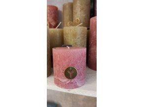 Sviečka Rustik - ružová
