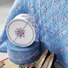 Okrúhla krabica Nicoline White - väčšia - modrá