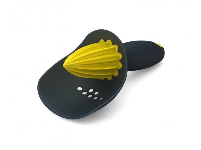 Odšťavňovač se sítkem  JOSEPH JOSEPH Catcher, šedý/žlutý