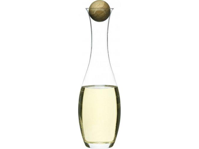 Karafa na bílé víno s dřevěnou kuličkou  SAGAFORM Oval Oak,  1L