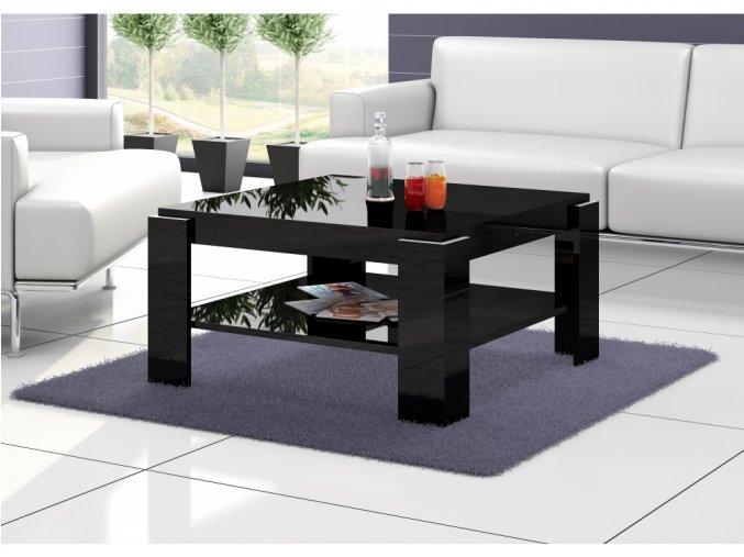 Konferenční stolek ELBA (Barva Bílý lesk)