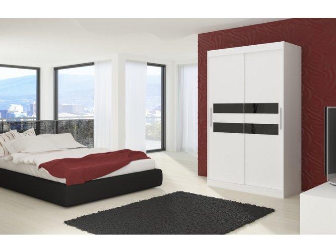 Enzo white+black lacobel En01