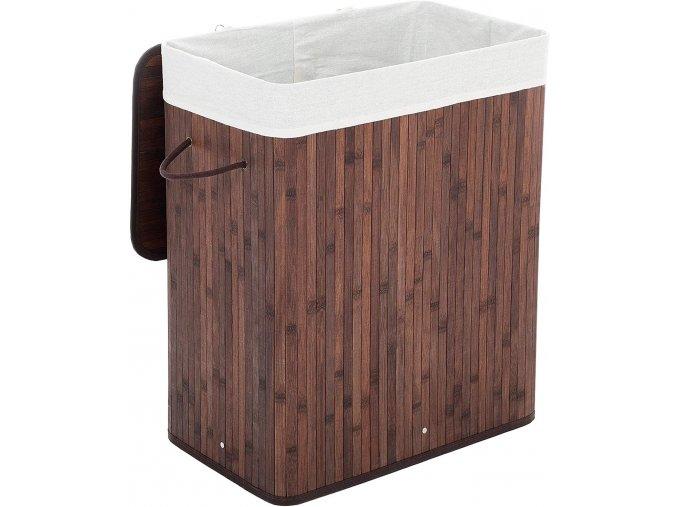 Bambusová koš na prádlo 100 l tmavý LCB61Z