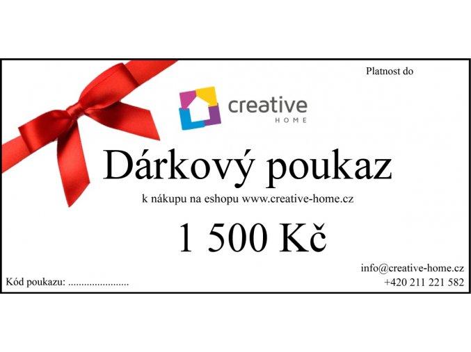 Poukaz CREATIVE HOME 1500