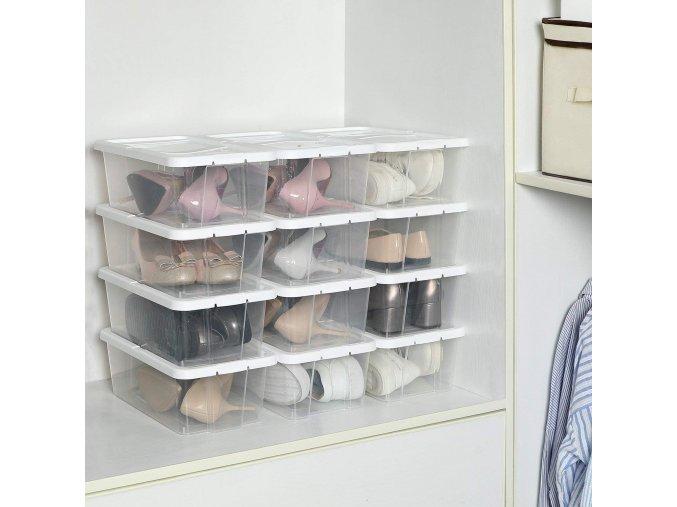 Úložný box na boty průhledný
