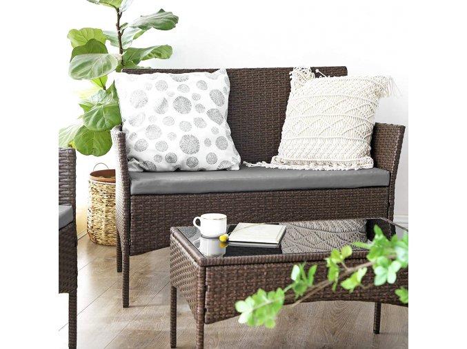 Set zahradního nábytku umělý ratan