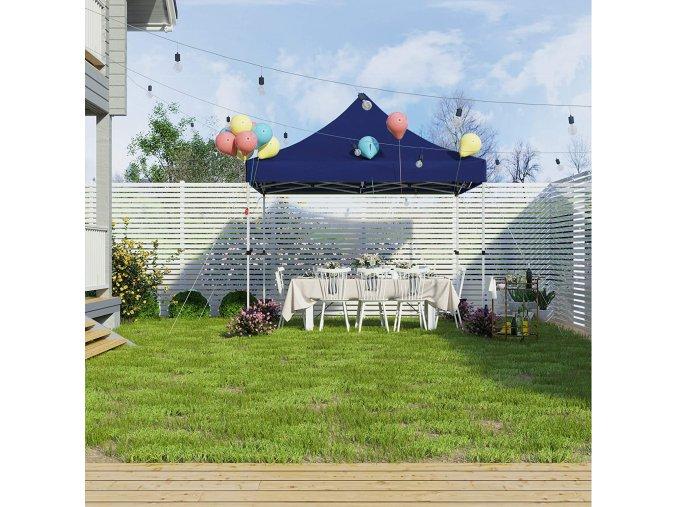 Zahradní párty stan skládací 3x3 m modrý