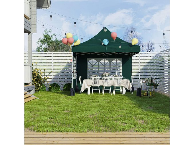 Nůžkový zahradní párty stan zelený 300x300 cm