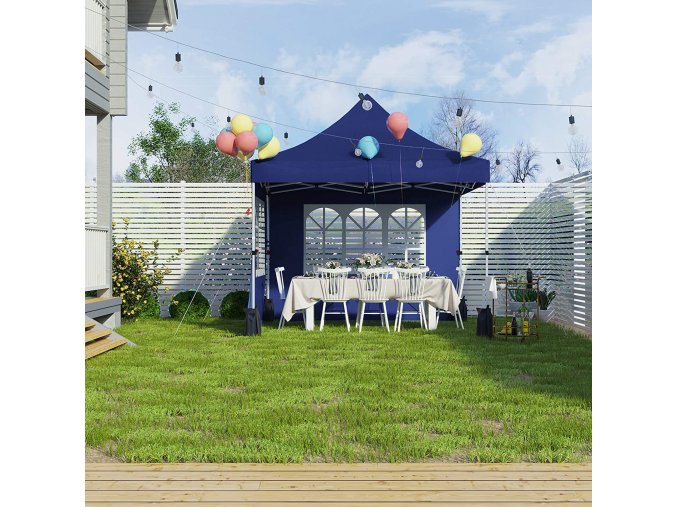 Nůžkový párty stan 3x3m modrý