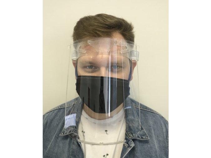 Ochranný obličejový štít z plexiskla