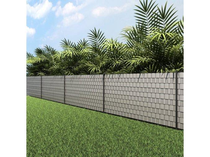 Stínící plotová folie páska 19cm x 40m šedá