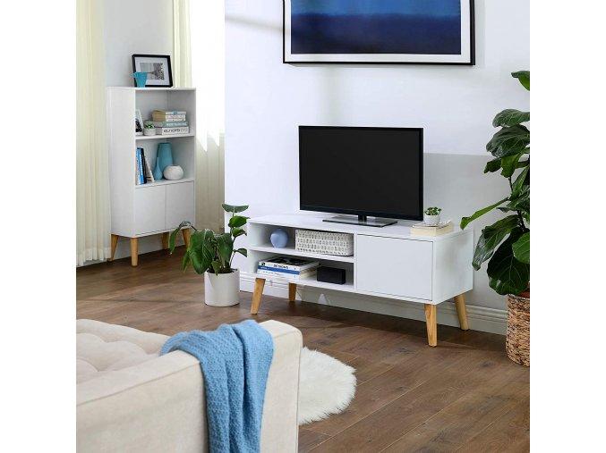 Malý bílý televizní stolek