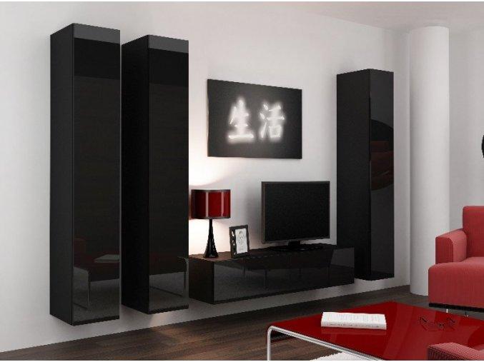 Obývací stěna VIGO 14, černá