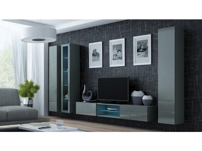 Obývací stěna VIGO 17, šedá