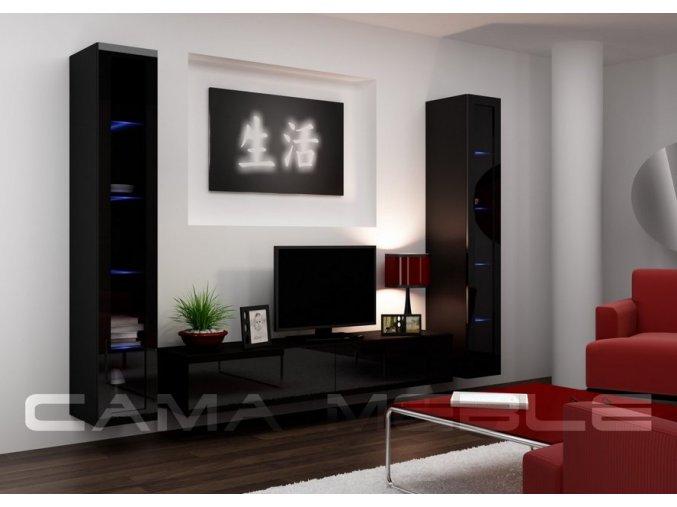 Obývací stěna VIGO 5, černá