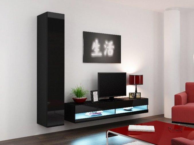 Obývací stěna VIGO NEW 9, černá