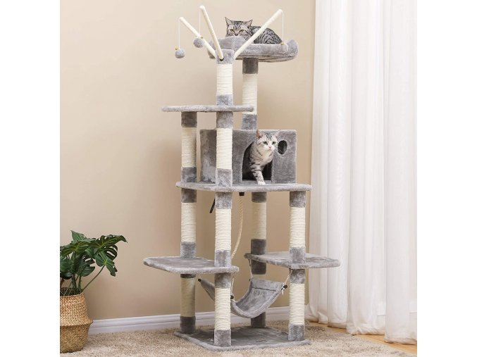 Strom pro kočky škrabadlo pelíšek XXL